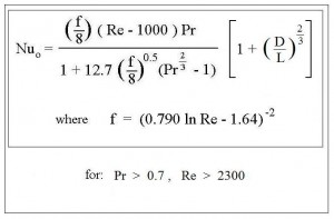 Nusselt Number Correlation for Forced Convection Heat Transfer Coefficient Calculator