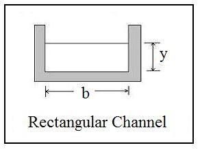 hydraulic radius open channel flow diagram for rectangular channel