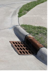 stormwater drain inlet calculations spreadsheet gutter inlet figure