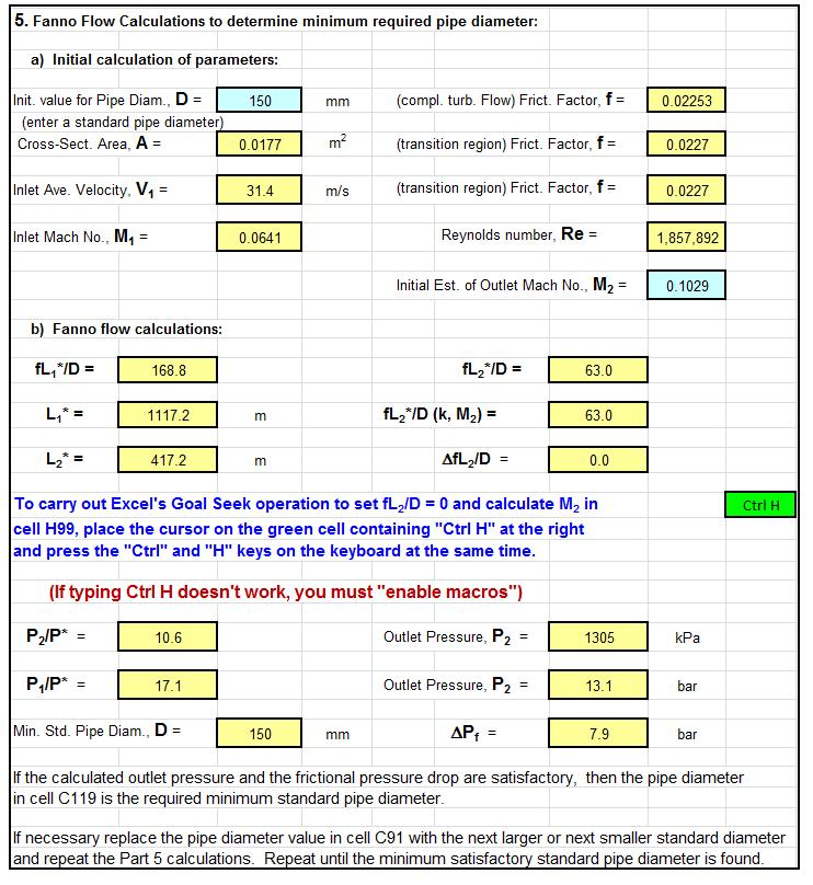 Fanno Flow Excel Screenshot Low Cost Easy To Use