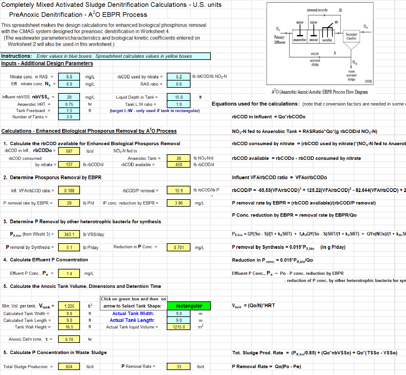 EBPR Design Calculations Spreadsheet Screenshot